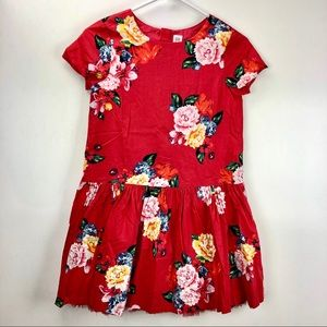 NWT Gap red floral dress Christmas holiday L